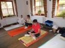 Im Yogaraum wurde auch studiert